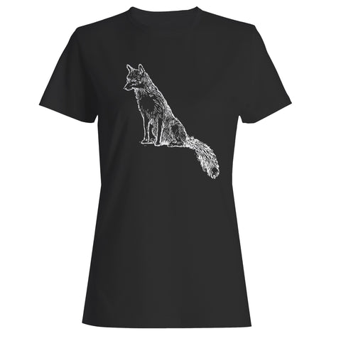 Sly Sitting Fox Woman's T-Shirt