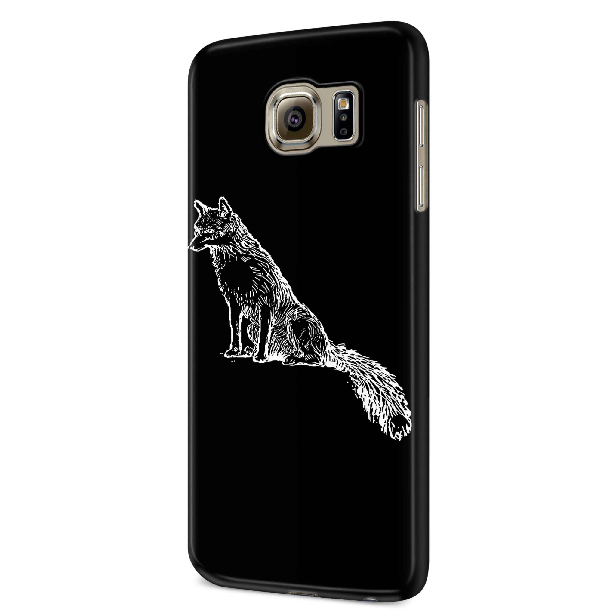 Sly Sitting Fox Samsung Galaxy S6 S6 Edge Plus/ S7 S7 Edge / S8 S8 Plus / S9 S9 plus 3D Case