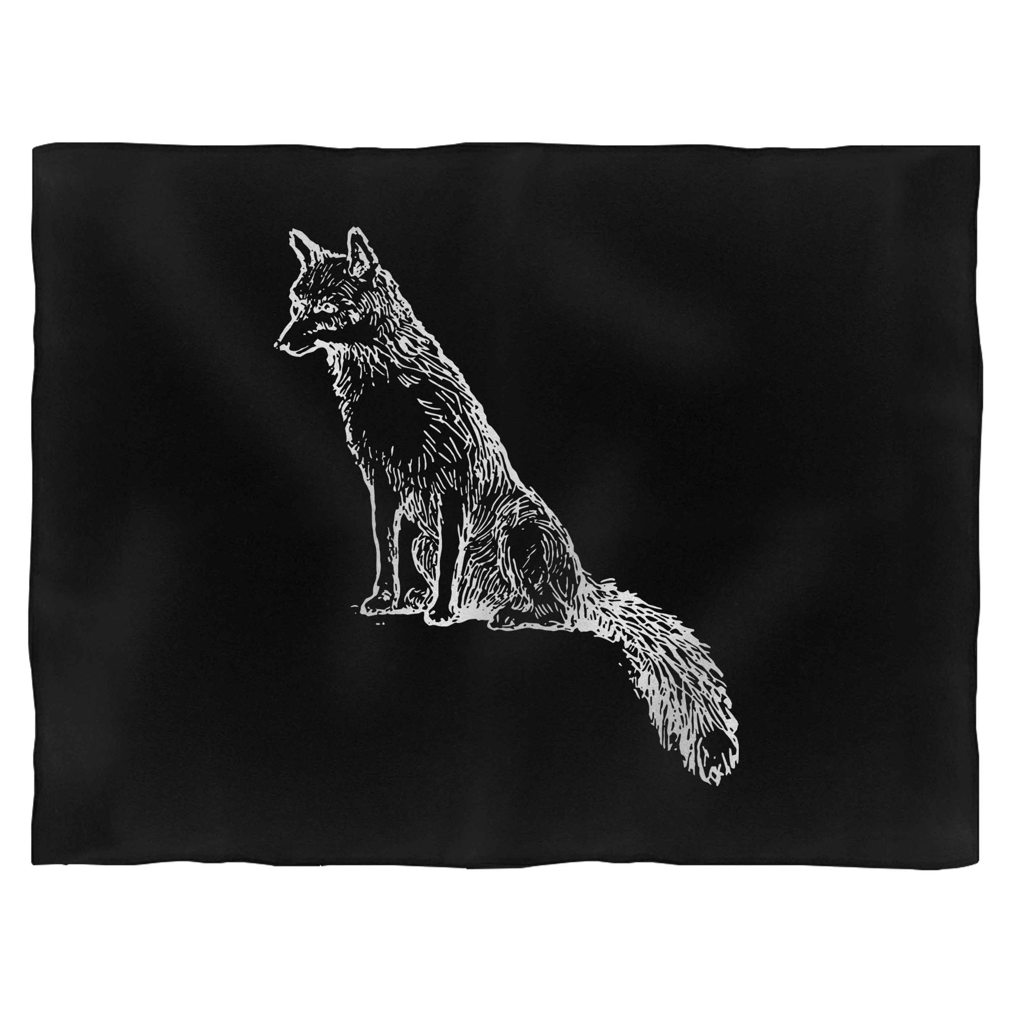Sly Sitting Fox Blanket