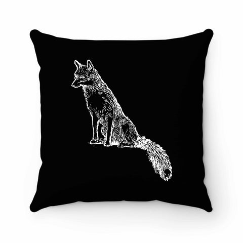 Sly Sitting Fox Pillow Case Cover