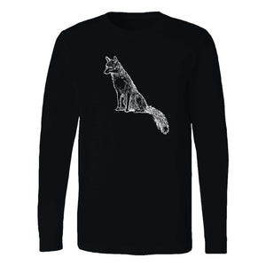 Sly Sitting Fox Long Sleeve T-Shirt