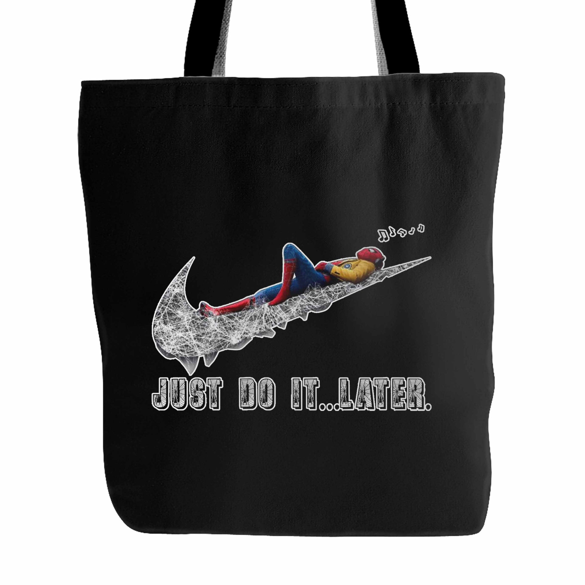 Spiderman Rilex Just Do It Later Tote Bag