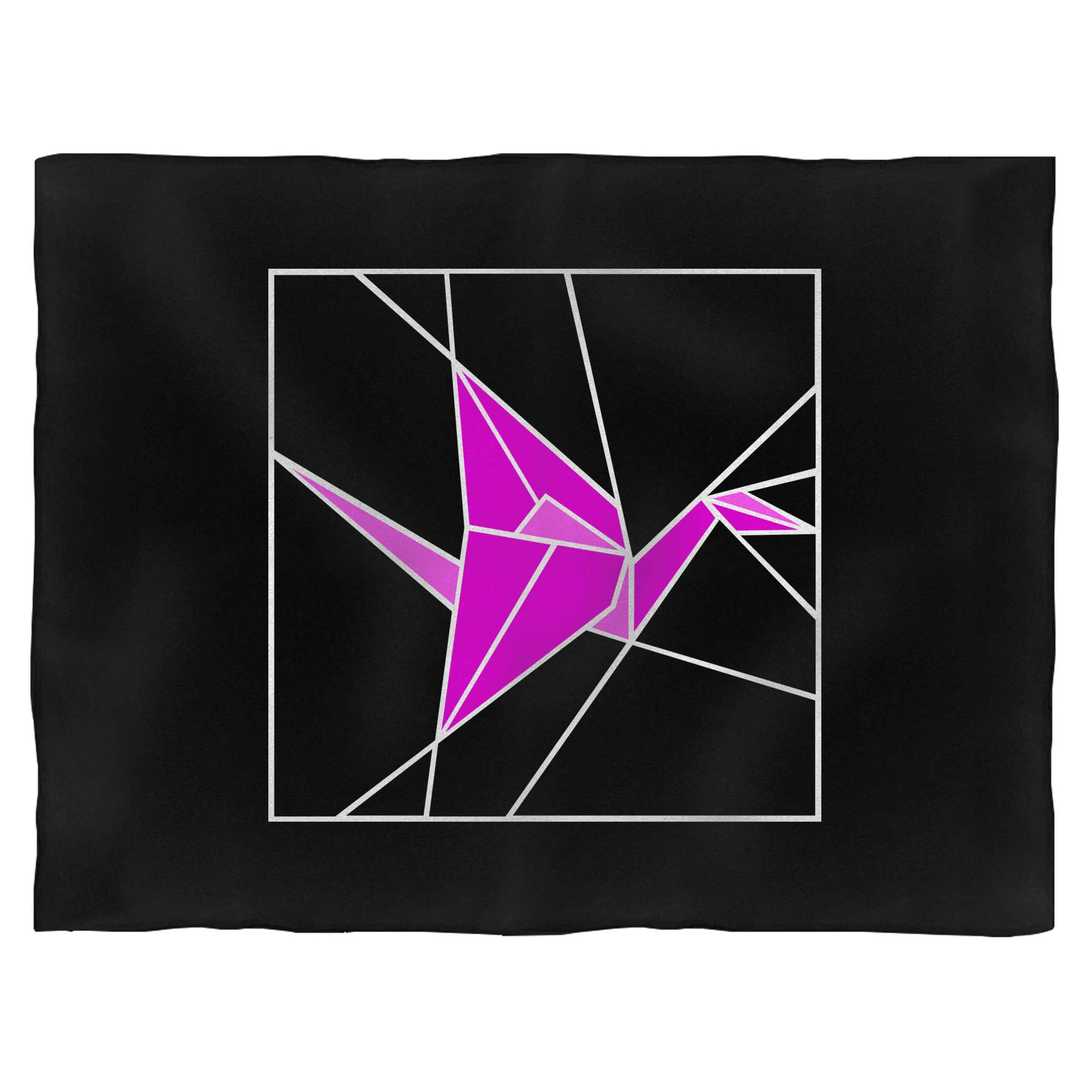 Stained Glass Pink Origami Blanket