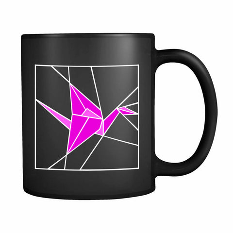 Stained Glass Pink Origami 11oz Mug