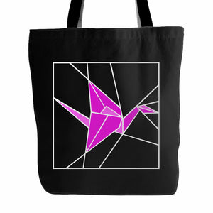 Stained Glass Pink Origami Tote Bag