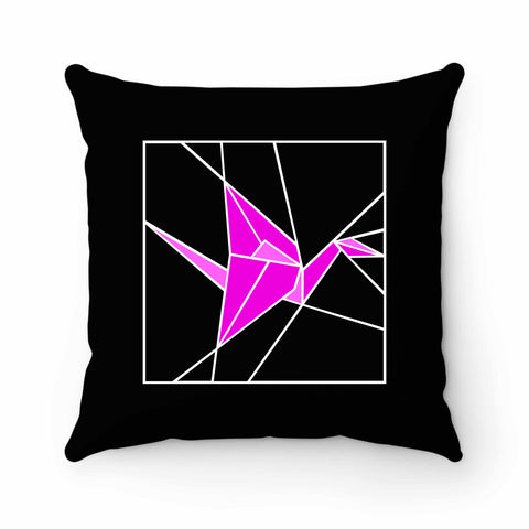 Stained Glass Pink Origami Pillow Case Cover