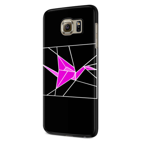 Stained Glass Pink Origami Samsung Galaxy S6 S6 Edge Plus/ S7 S7 Edge / S8 S8 Plus / S9 S9 plus 3D Case