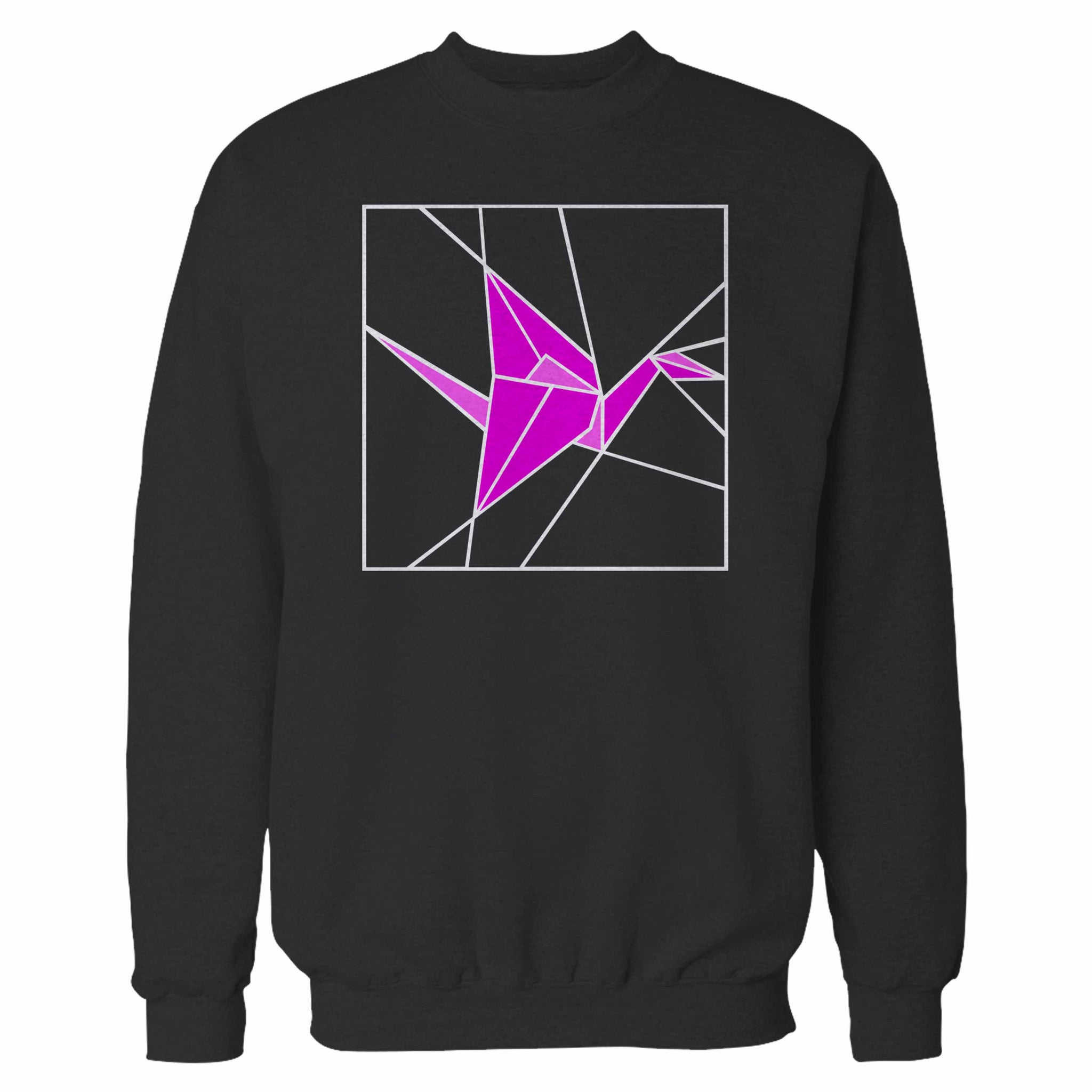 Stained Glass Pink Origami Sweatshirt