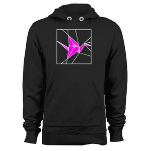 Stained Glass Pink Origami Unisex Hoodie