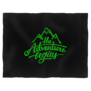 The Adventure Begins Mountain Blanket