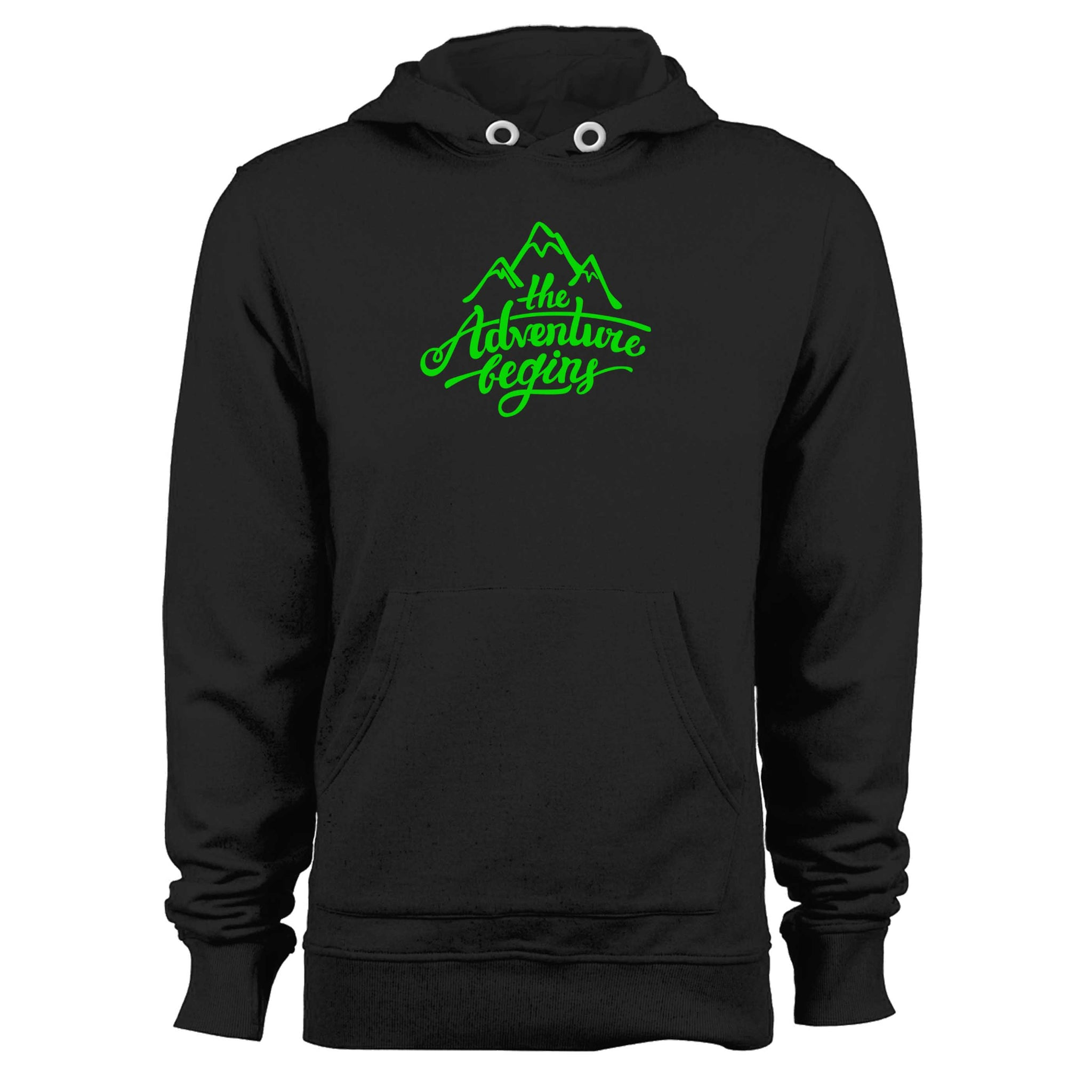 The Adventure Begins Mountain Unisex Hoodie