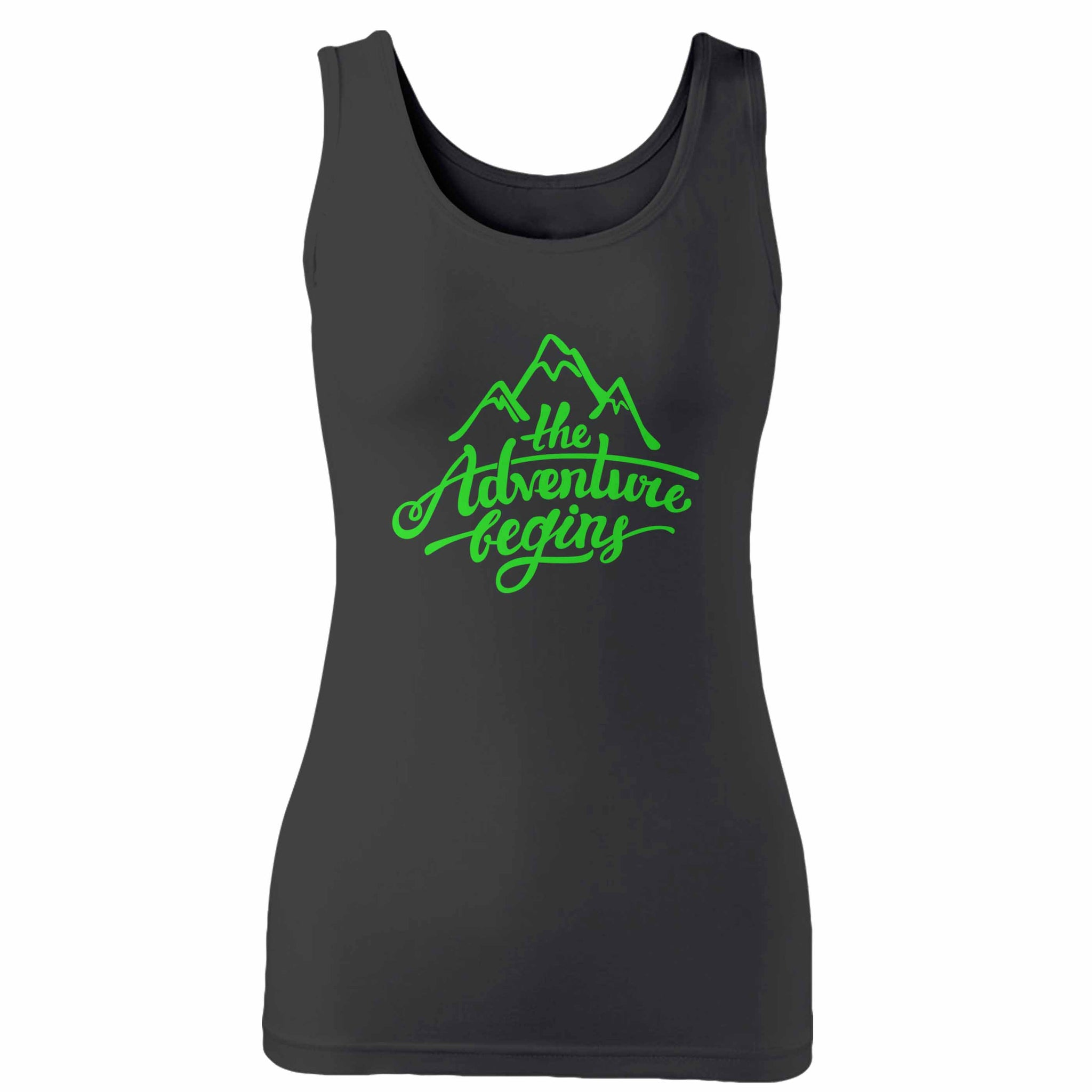 The Adventure Begins Mountain Woman's Tank Top