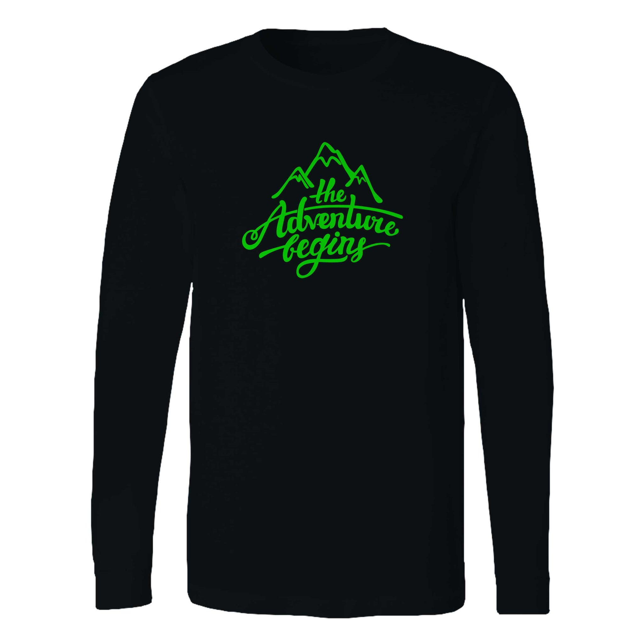 The Adventure Begins Mountain Long Sleeve T-Shirt