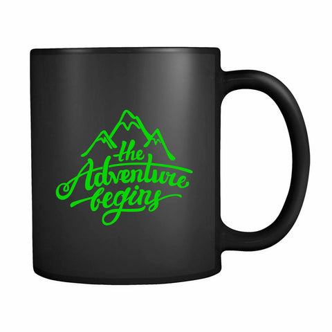 The Adventure Begins Mountain 11oz Mug
