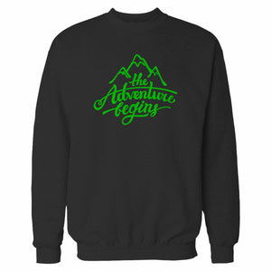 The Adventure Begins Mountain Sweatshirt
