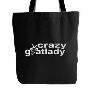 The Crazy Goat Lady Fun Goat Lovers Tote Bag