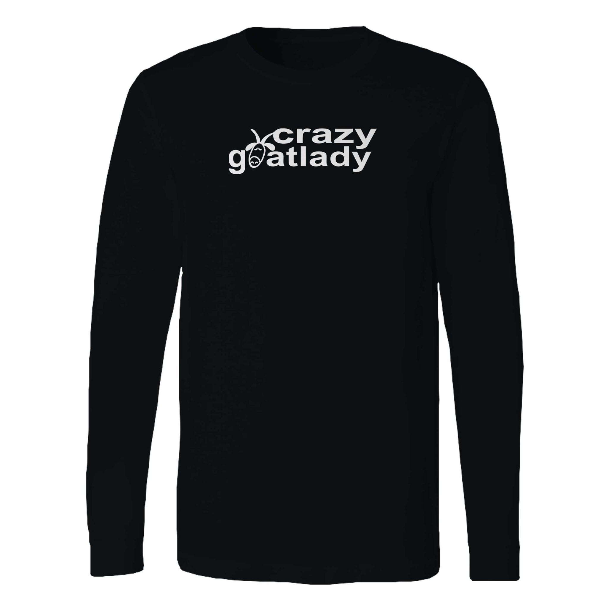 The Crazy Goat Lady Fun Goat Lovers Long Sleeve T-Shirt