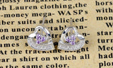 Purple Crystal Diamond Earrings