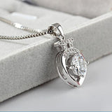 Luxury Silver Plated Heart Pendant