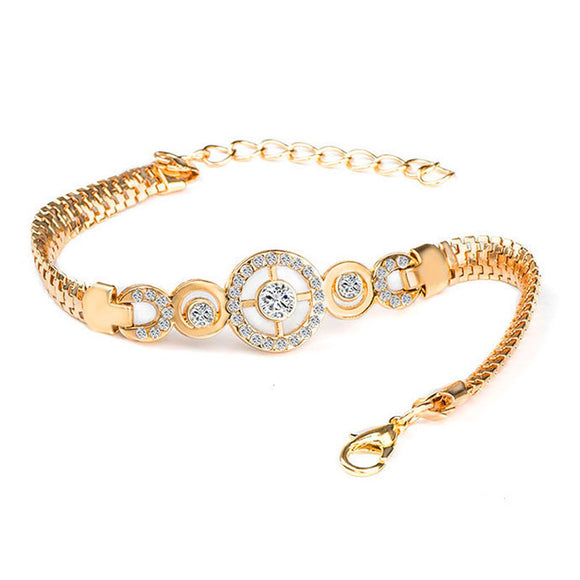 ROUND DIAMOND HAND CHAIN BRACELET