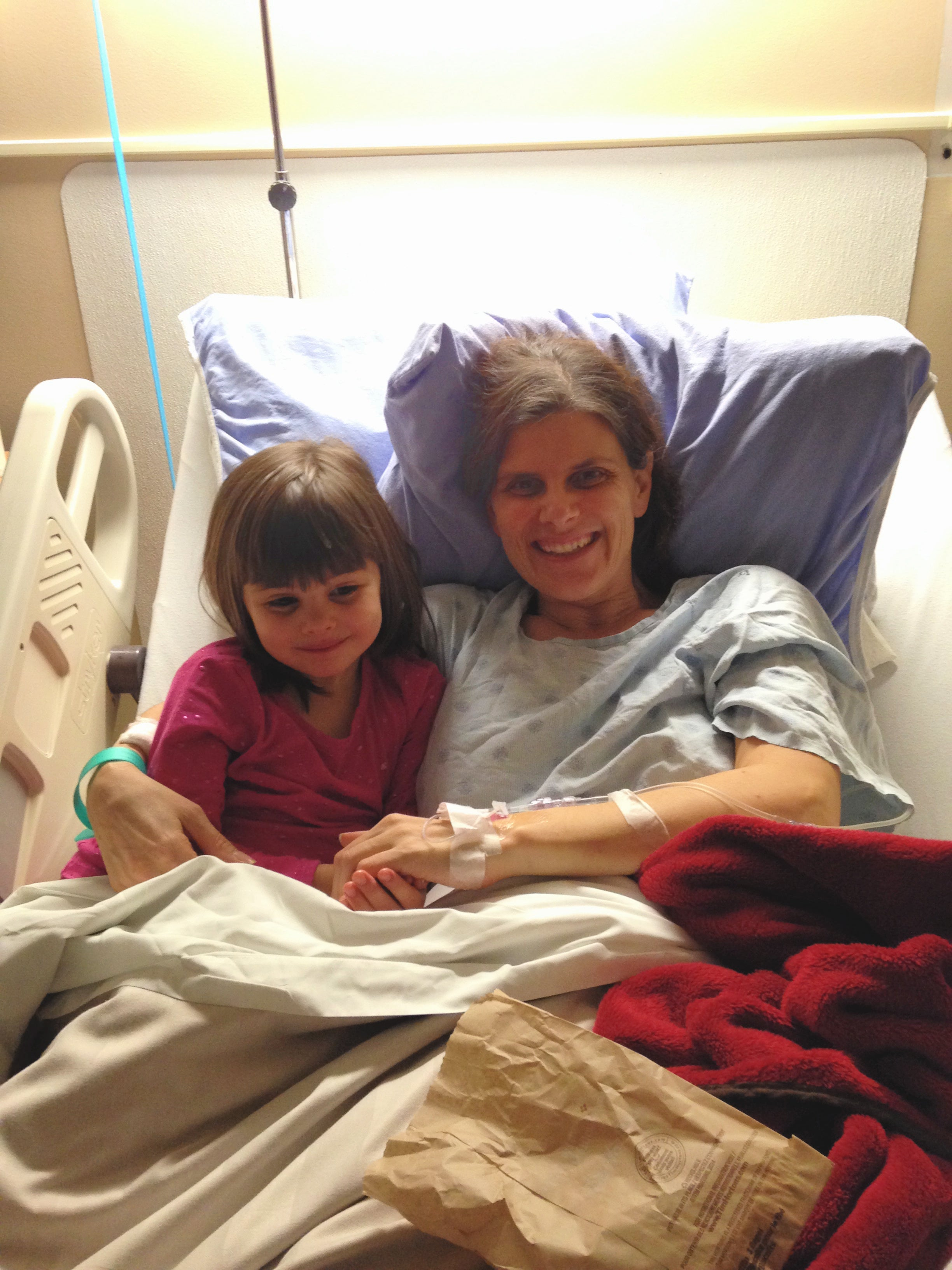 julie with her daughter after she woke up from a coma