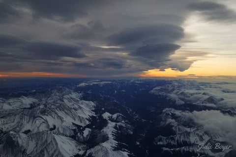 Sunrise over the rockies