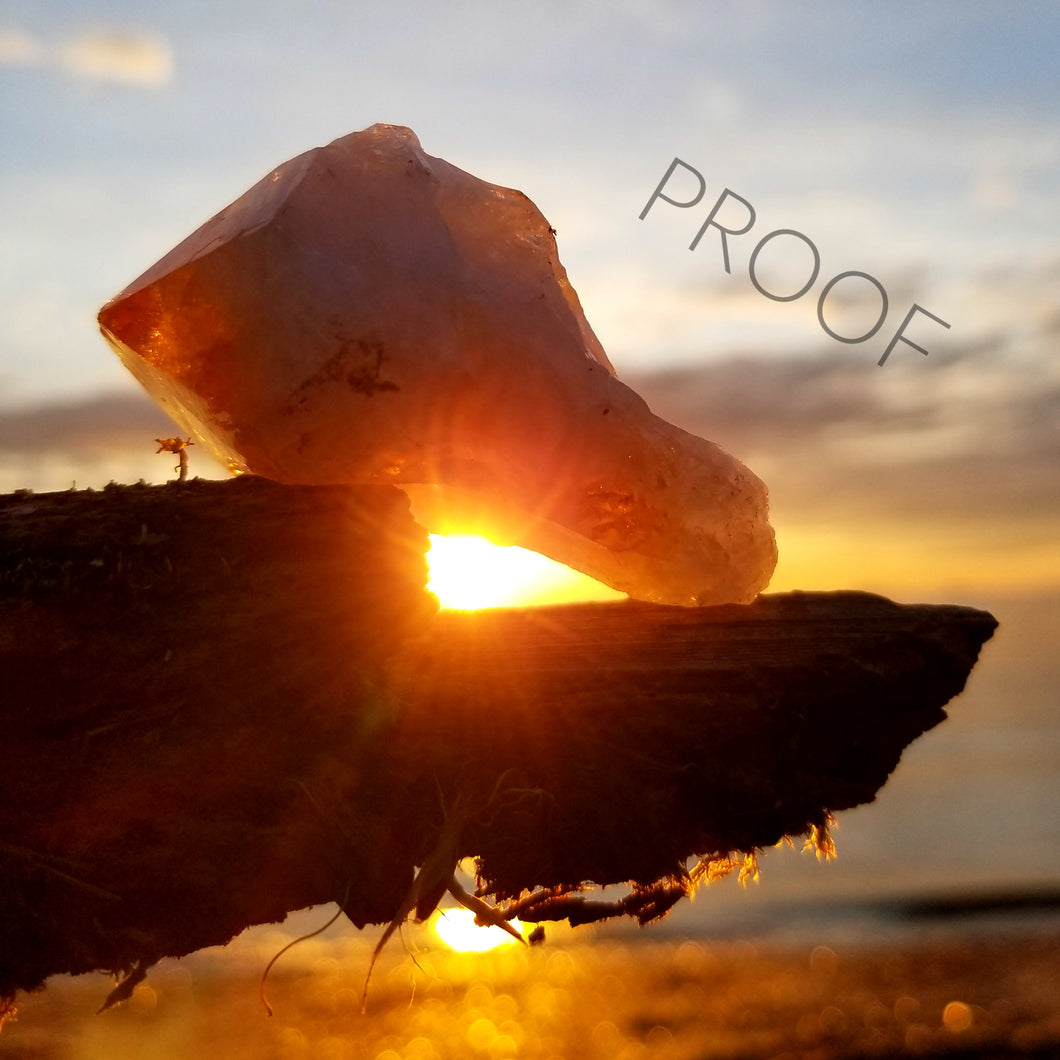 Citrine Crystal Sunrise