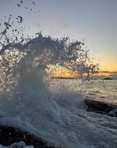 Cresting Wave at Sunset