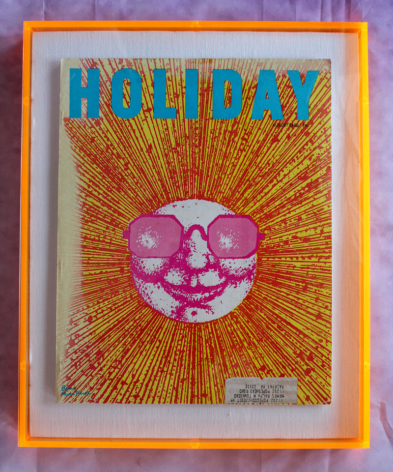 "Framed Holiday Magazine Cover - August 1968, ""Psychedelic Sun"""