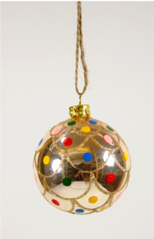 Polka Dot Ball Ornament