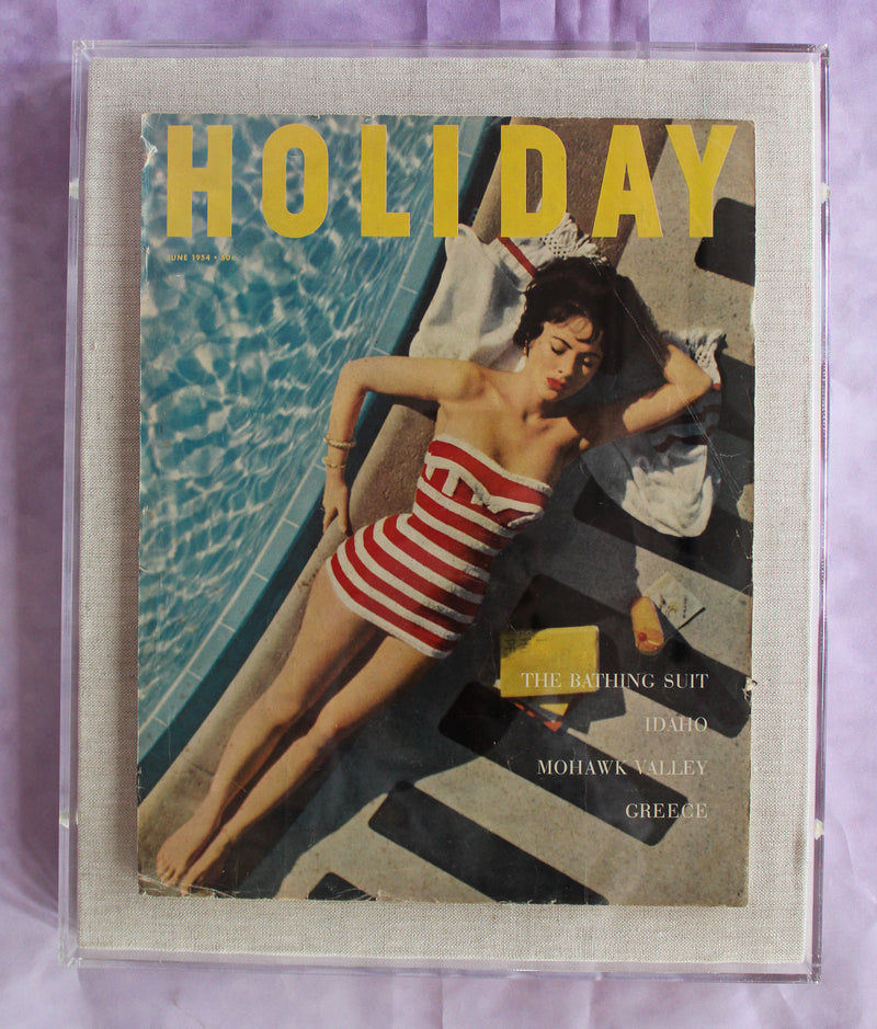 "Framed Holiday Magazine Cover - June 1954, ""The Bathing Suit"""