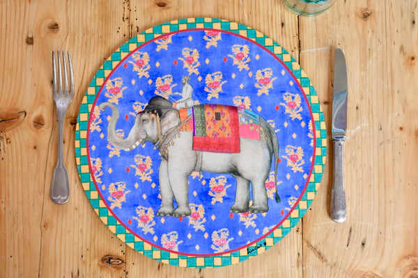 Elephant Placemat - Pervinch