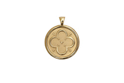 Coin Pendant Necklace - Love