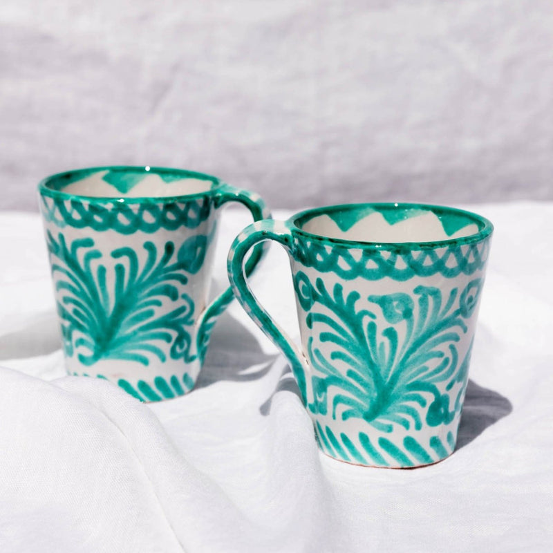 Hand Painted Mug - Green
