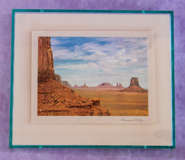 1950s Photo Print with Neon Lucite Frame - Monument Valley