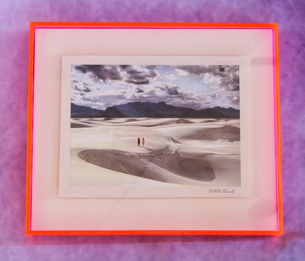 1950s Photo Print with Neon Lucite Frame - White Sands