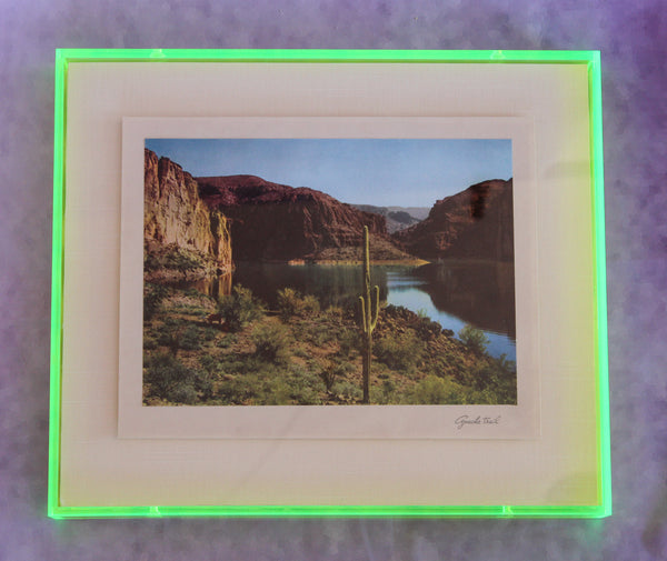 1950s Photo Print with Neon Lucite Frame - Apache Trail