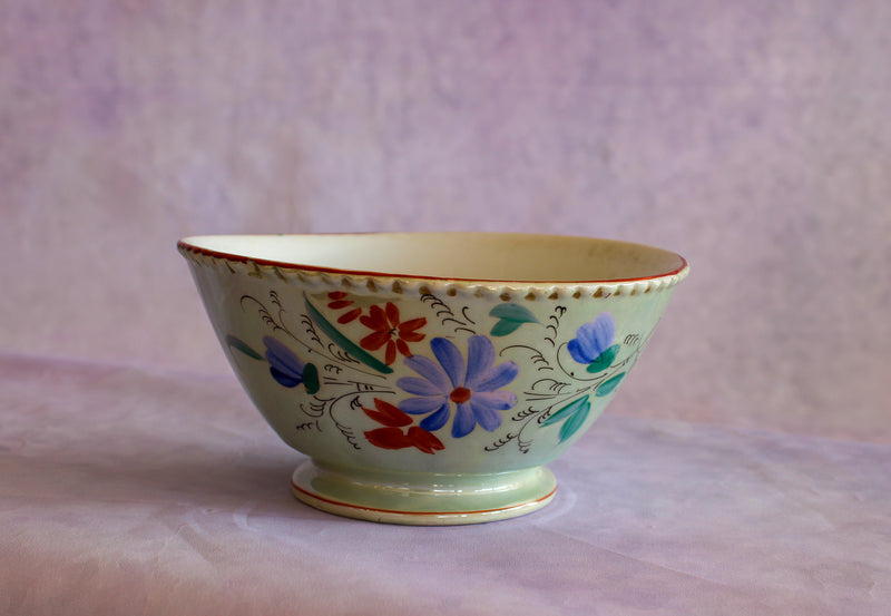 Antique Kuznetsov Bowl Medium Seafoam