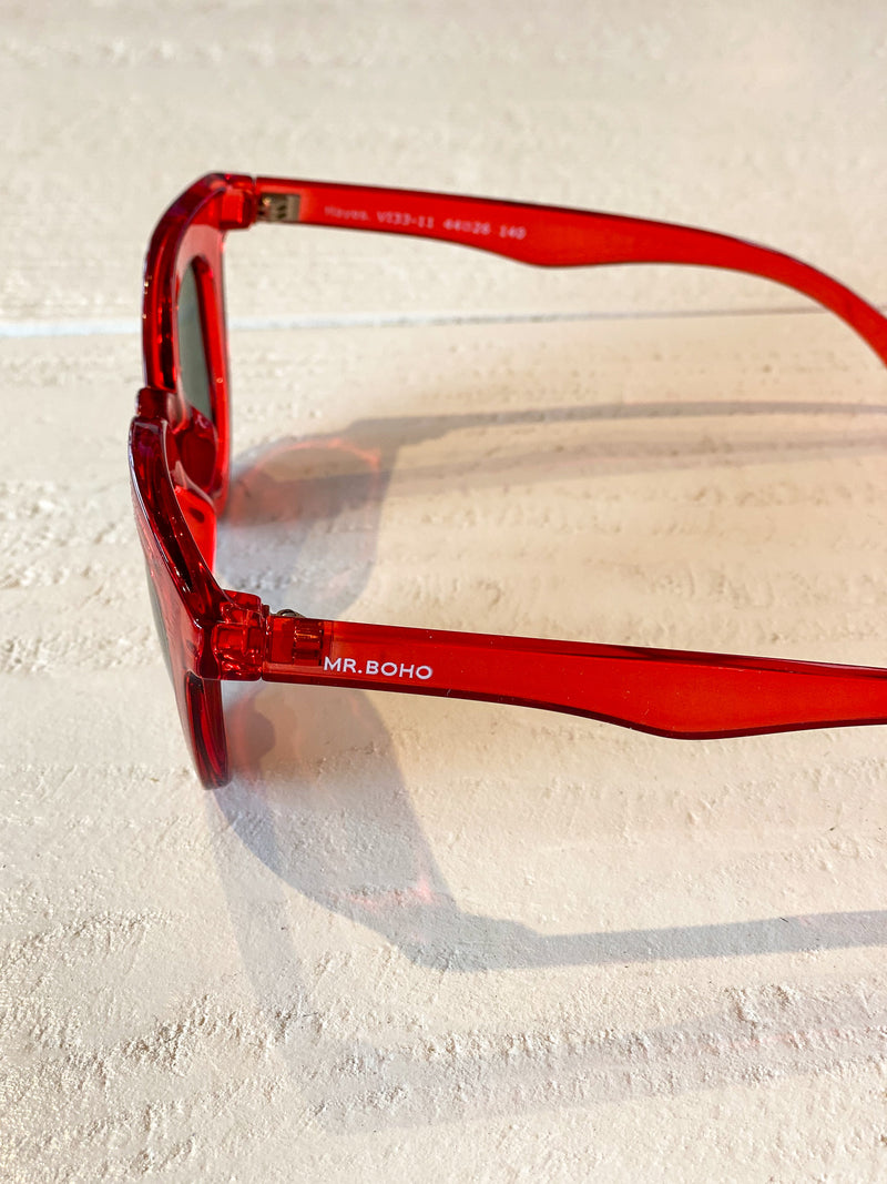 Hayes Sunglasses - Techni Red