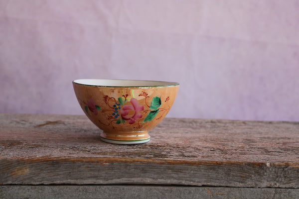 Antique Kuznetsov Bowl Small Peach