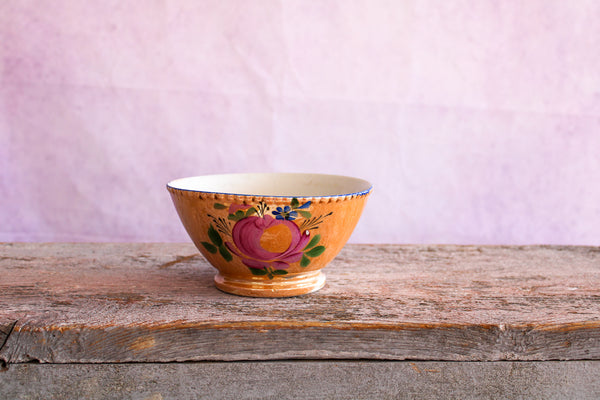Antique Kuznetsov Bowl Medium Peach