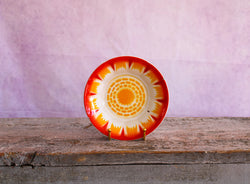 Vintage Indian Enamelware Sunburst Bowl