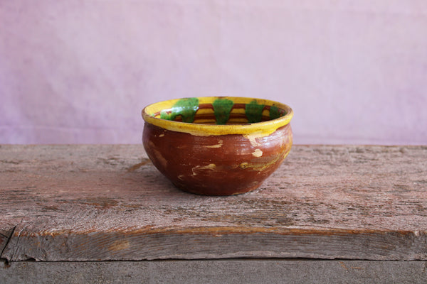 Anatolian Kinik Terra Cotta Bowl Small Yellow / Green