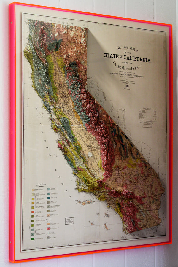 1916 State of California Geological Map Print