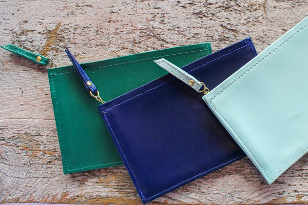 Cardoon Colored Leather Pouch