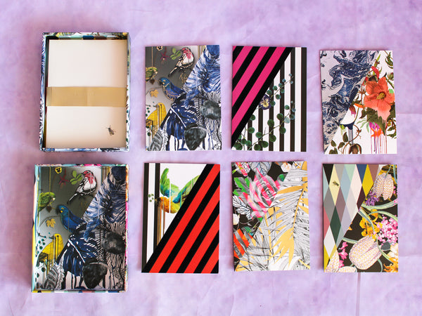 Orchid's Mascarade Boxed Notecards Set of 8