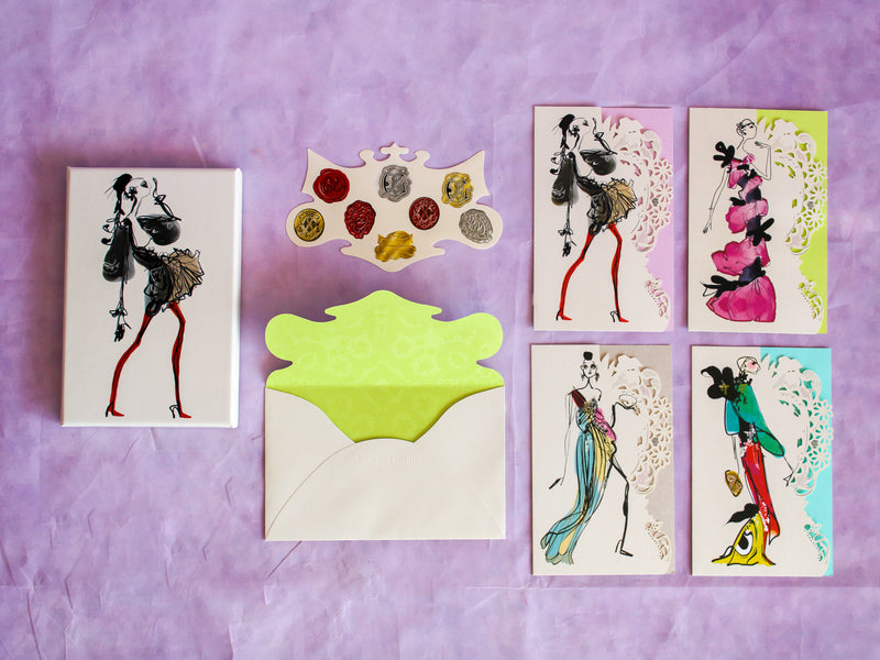 Haute Couture Die-Cut Notecards Set of 8