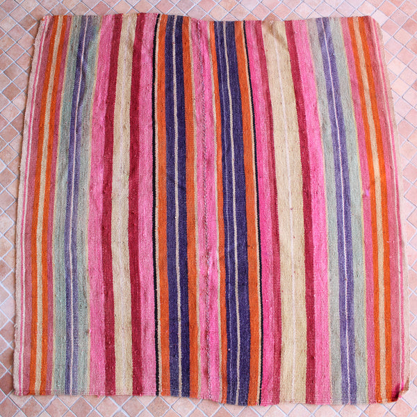 Vintage Frazada - Dusty Rainbow Stripe
