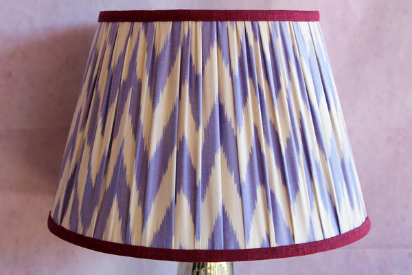 Violet Chevron Lampshade with Mulberry Trim