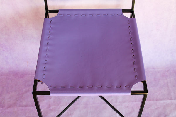 Leather Stitch Chair - Cardoon Purple